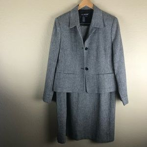 Vintage JG Hook Black & White Herringbone Suit